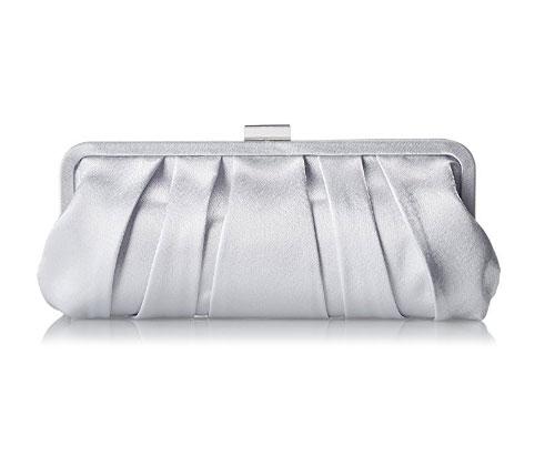 Silver Handbag by Nina Logan-C Clutch