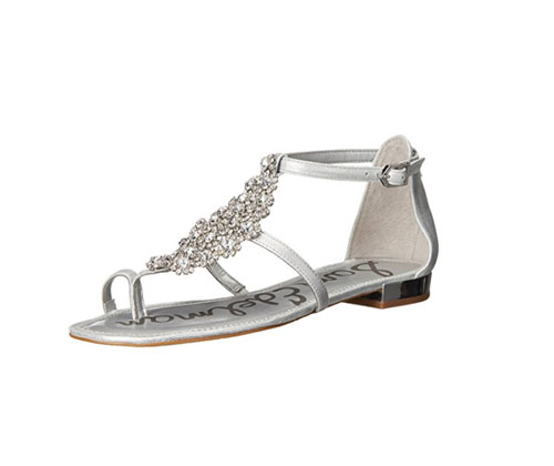 Silver Sandals by Sam Edelman Women's Dillan
