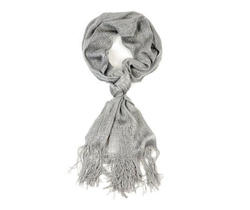 Silver Scarf by NYfashion101 Fashionable Metallic Sparkly Glitter Thread