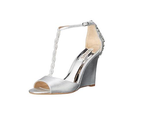 Silver Shoes by Badgley Mischka Women's Camryn II Wedge Sandal
