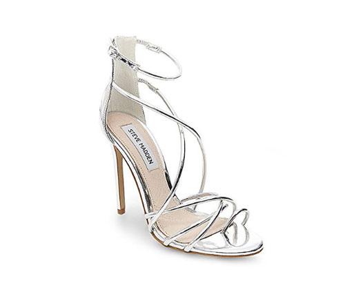 Silver Shoes by Steve Madden Women's Satya Dress Sandal