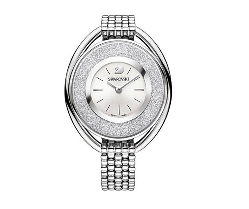 Silver Watch by Swarovski Crystalline Oval Bracelet Watch 5181008