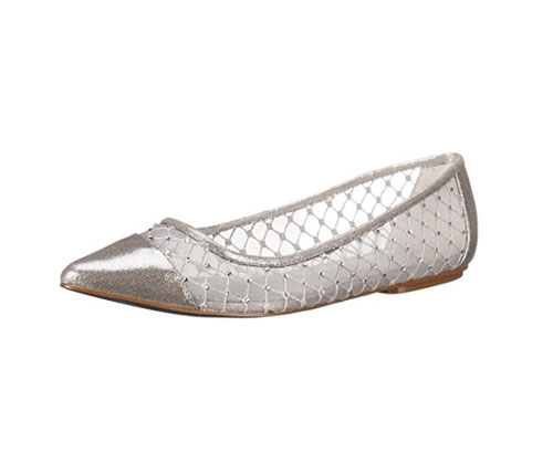 Silver Shoes - by Adrianna Papell Women's Jewel Flat