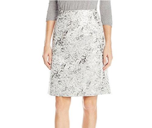 Silver Skirt by Ellen Tracy Women's A-Line